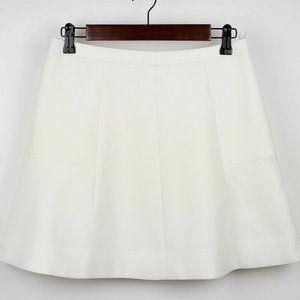 J. CREW Beige off white A-line flared skater skirt